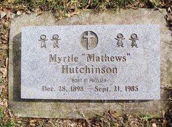 Myrtle <I>Mathews</I> Hutchinson