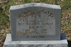 May Elizabeth <I>Elkhair</I> Brown