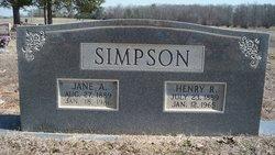 Jane A. <I>Driver</I> Simpson
