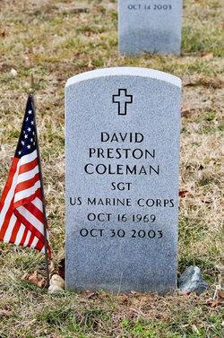 Sgt David Preston Coleman