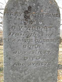 Mary Catherine <I>Dobbins</I> Wright