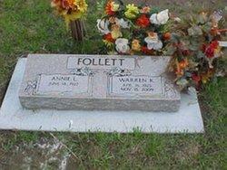Annie Lois <I>Sanderson</I> Follett