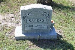 Annie Annette Sayers