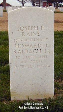 2LT Howard John Kalbach, Jr