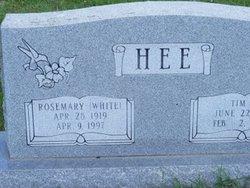 Rosemary <I>White</I> Hee