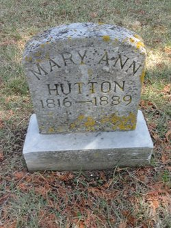Mary Ann <I>Cruthers</I> Hutton