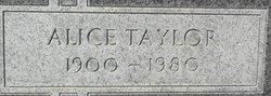 Alice <I>Taylor</I> Eiland