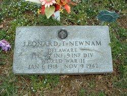 PFC Leonard Thomas Newnam