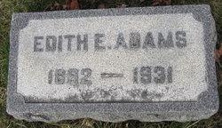 Edith Ellen <I>Shontz</I> Adams