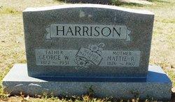Mattie R <I>Woods</I> Harrison