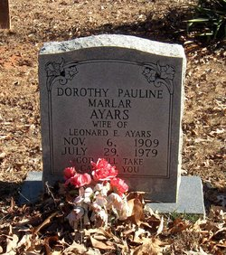 Dorothy Pauline <I>Marlar</I> Ayars