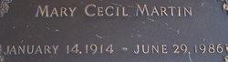 Mary Cecil <I>Boley-Baker</I> Martin