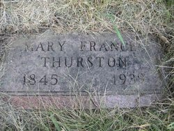 Mary Frances <I>Gerry</I> Thurston