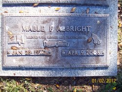 Mable Francis <I>Higginbotham</I> Albright