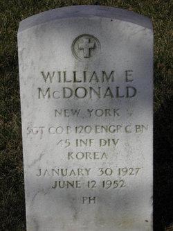 William E McDonald