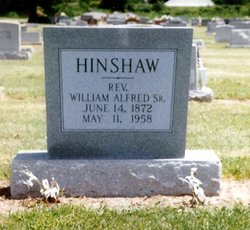 Rev William Alfred Hinshaw, Sr