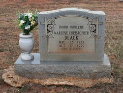 Marlene <I>Christopher</I> Black