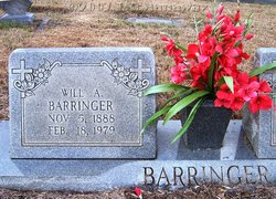 "William Adolphus ""Willie"" Barringer"