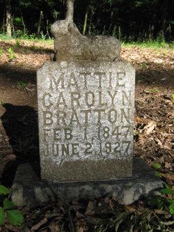 """Martha Carolyn """"Mattie"""" <I>Collins</I> Bratton"""