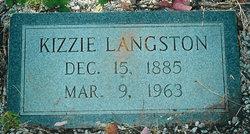 "Keziah ""Kizzie"" <I>Thrift</I> Langston"