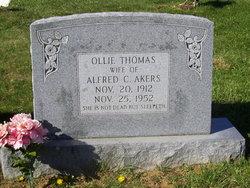 Ollie <I>Thomas</I> Akers