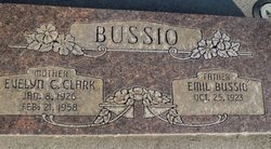 Evelyn Claire <I>Clark</I> Bussio