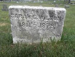 Sarah E <I>Eves</I> Wilson
