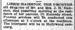 """Elizabeth """"Lizzie"""" Hairston"""