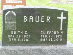 Edith C <I>Wagner</I> Bauer