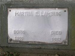 """Martha Ellen """"Mattie"""" <I>Conner</I> Lambing"""