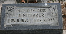 Rose May <I>Reed</I> Whittaker