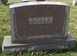 Mary Ann <I>Hartley</I> Boyer