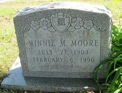 Minnie M <I>Schoonover</I> Moore