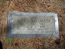 """Donald Ray """"Donnie"""" Baxter"""