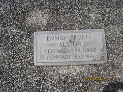 Mary Emmay <I>Pruett</I> Alston
