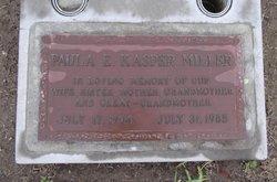 Paula E <I>Kasper</I> Miller