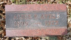 Alice Henrietta <I>Paul</I> Ayers