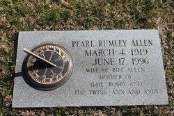 Pearl Lee <I>Rumley</I> Allen