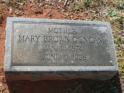 Mary <I>Brown</I> Duncan