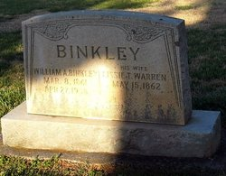 Lizzie T <I>Warren</I> Binkley