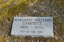 "Margaret ""Peggy"" <I>Williams</I> Campbell"