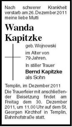 Wanda <I>Wojnowski</I> Kapitzke