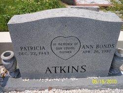 Patricia Ann <I>Bonds</I> Atkins