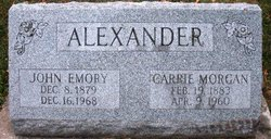 Carrie <I>Morgan</I> Alexander