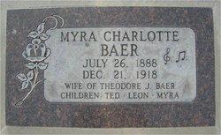 Myra Charlotte <I>Bates</I> Baer