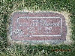 Aley Ann <I>Alcorn</I> Roberson