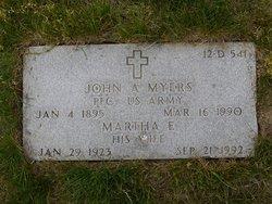 Martha E Myers