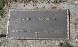Maude Emma <I>Brown</I> Ambrose