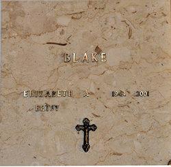 """Elizabeth Ann """"Betsy"""" <I>Gentry</I> Blake"""