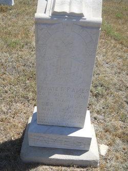 Pvt B. F. Ames